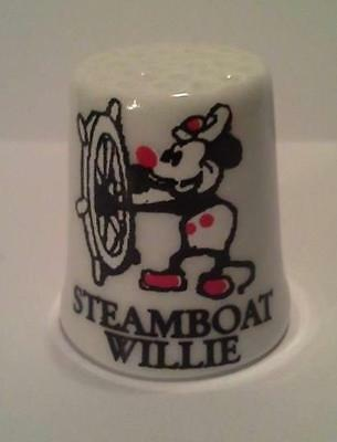 Super Nice Steamboat Willie Collectible Porcelain Thimble