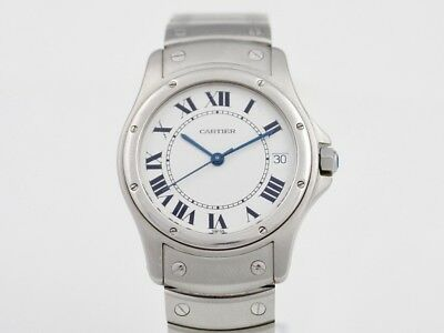 Cartier Santos Ronde 1920 1 Gent's Wrist Watch Automatic White Dial 32.5mm