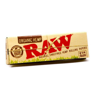 2 Packs of Raw Organic Hemp Natural Unrefined Rolling Papers 1.25 (1 1/4)