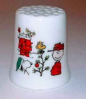 Super Nice CharlieBrown Collectible Porcelain Thimble