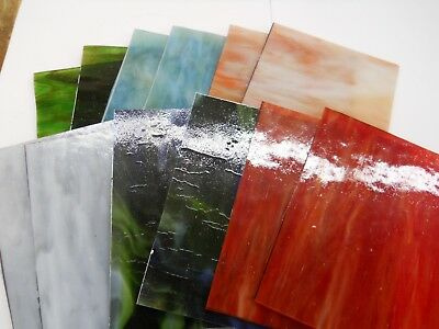 12 Stained Glass Sheets - 6 Colors, 2 Sheets of each Color  -- Mix c