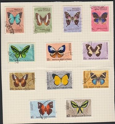 PAPUA NEW GUINEA 209-220 1966 used Butterflies