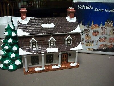"Yuletide -Snow Hamlet - ""dutch Colonial House"" 1986"