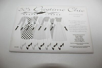 UNCUT DOLL CLOTHES SEWING PATTERN ~ 50's Daytime Chic GENE MARSHALL Dresses