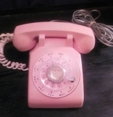 Vtg Pink Rotary Western Electric/Bell Systems Telephone