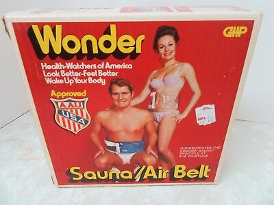 Vintage WONDER SAUNA Air Belt Model 2650 AAU USA Approved Workout Waist