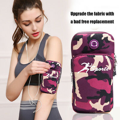 Universal Sports Running Riding Arm Band Case Zipper Bag For Cell Phone Storage