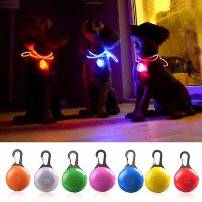 Pet Kitten Puppy LED Flashing Collar Pendant Safety Small Night Light Keychain