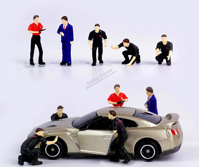 1:64 Race Medal Technician group Repairing People Model For Matchbox Greenlight