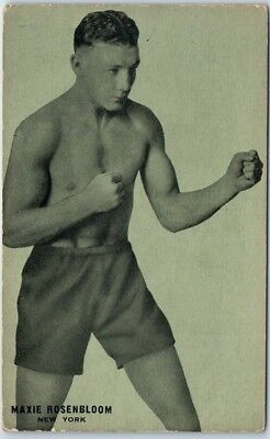 "Vintage BOXING Sports Postcard ""MAXIE ROSENBLOOM New York"" Actor Boxer c1928"