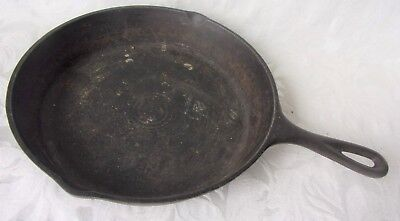 """Vintage Old Cast Iron SKillet Frying Pan  No-8 15"""" x 11"""" Solid No Wobble Pan *"""