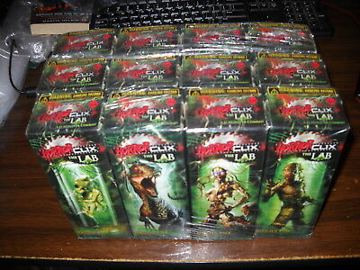 Horrorclix: The Lab: sealed booster brick: 12 Boosters: 48 Figures: NIS