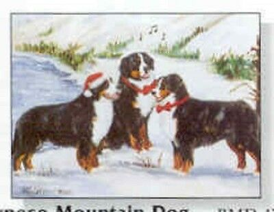 Eight Card Pack BERNESE MOUNTAIN Dog Breed Christmas Cards