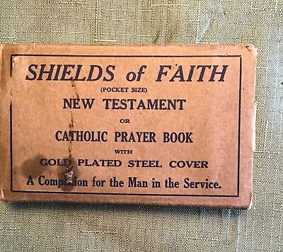 WW II US Army, New Testament, Boxed, Steel Cover