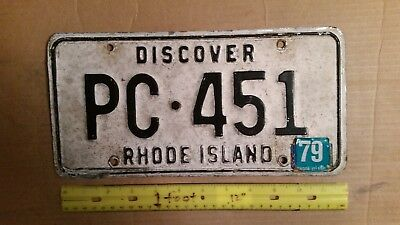 License Plate, Rhode Island, Discover, 1979, PC 451