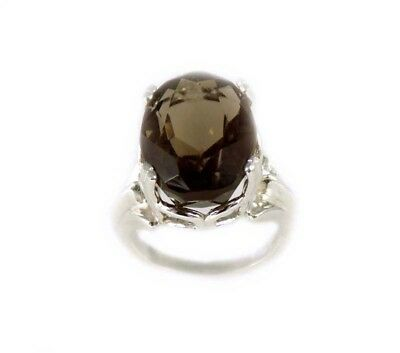 19thC Antique Scotland Cairngorm Smoky Quartz Ring Ancient Rome Intaglio Gem