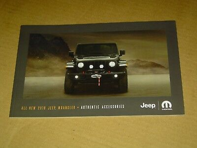 2018 Jeep Wrangler Accessories Brochure Mint! 26 Pages
