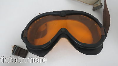 WWII US ARMY AIR CORPS AVIATION FLIGHT GOGGLES No. 1065 POLAROID