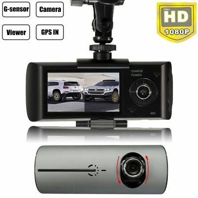 """2.7"""" In Car Taxi CCTV Screen Front & Rear Dual Camera HD Video Journey Recorder"""