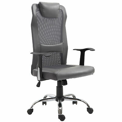 Vinsetto High Back Mesh Office Chair Swivel Ergonomic Task Executive Seat Grey