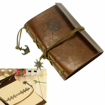 Retro Leather Cover Notebook Journal Diary Blank Work Book 14.5*10.5cm