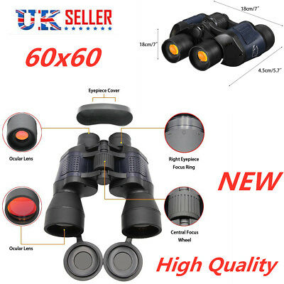 3000m HD Military Army Powerful 60x60 Day/Night Binocular Optics Hunting Camping