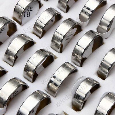 FREE wholesale lots 12pcs Gothic Stainless Steel silver Men's Favor Jewelry Ring