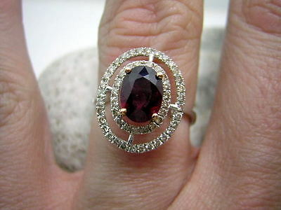 2,00ct RUBIN BRILLANT DESIGN RING IN 750/000 WEISSGOLD TRAUMHAFT LUXUS X1764