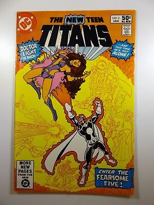 """The New Teen Titans #3 """"Enter: The Fearsome Five!"""" VF Condition!!"""