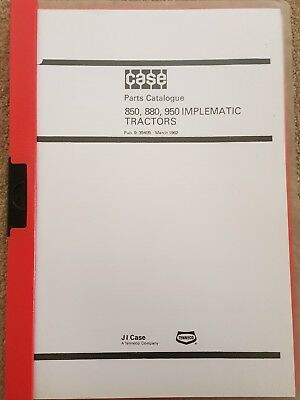 David Brown 850 880 950 Implematic Tractor Parts Catalogue