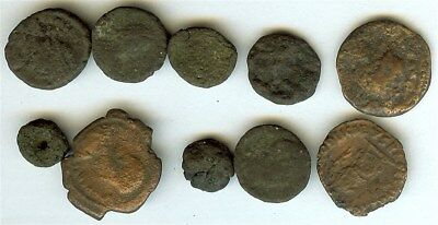 Ancient Coins Mixture Of Different Rulers & Denomination 10 Coin Collection