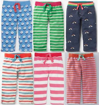 Mini Boden baggies shorts girls jersey cropped trousers striped summer 2 - 12