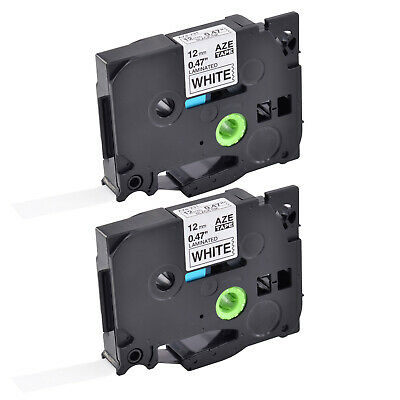2PK TZe-231 Black on White Label Tape For Brother P-Touch PT-1830 PT-1880 12mm