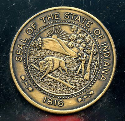 Superb 1816-1966 Sesquicentennial Seal of the State of Indiana Copper Coin FA81