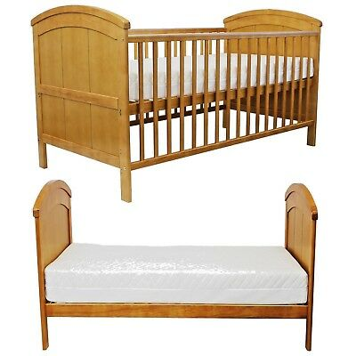 iSafe Liam Cot CotBed Toddler Junior Bed - Antique Pine