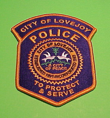 "Lovejoy  Georgia  Ga  "" A City Of Peace ""   Police Patch   Free Shipping!!!"