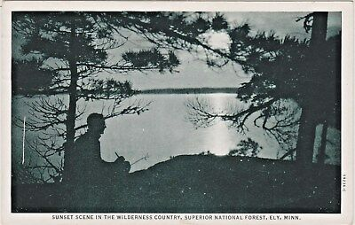 Superior National Forest Ely, Minnesota, Sunset Scene in The Wilderness Country