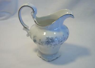 Vintage Johann Haviland Bavaria Germany Blue Garland Creamer Pitcher