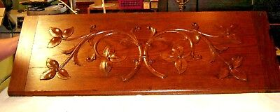 """Antique Oak Salvage Pediment with Applied Carving  37 1/2"""" wide X 13"""" tall 9491"""
