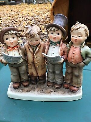 Large Hummel Figure of 4 Boys Singing Harmony In Four Parts