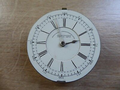Liverpool John Lecomber Antique Gents  Fusee Chronograph  Pocket Watch Movement