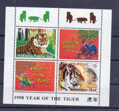 Wilde Tiere  Tiger Raubkatzen Block 117 Philipinen **17