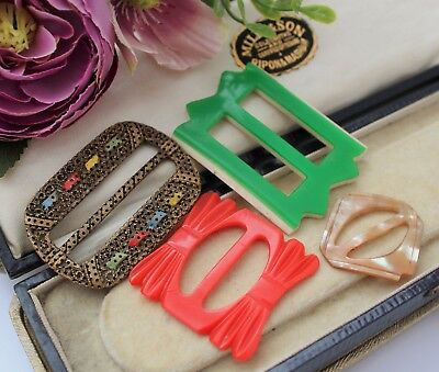 Art Deco Vintage Buckles - Fab Designs And Materials For Vintage Clothing