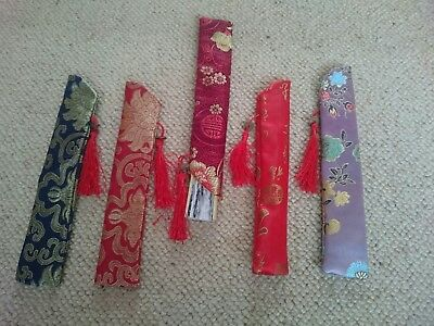 X 1 Cover For Foldable Fan Or Gift Choice Of Colours Chinese Silk, Christmas