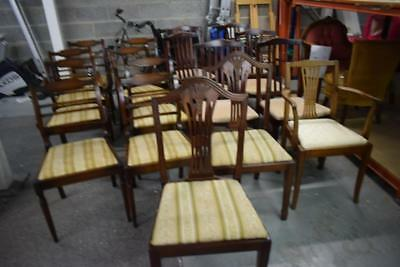 Massive job Lot Of 17 Vintage Dining Chairs