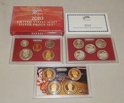 2010-S Silver US  United States Mint Proof Set w/ State Quarters & Dollars