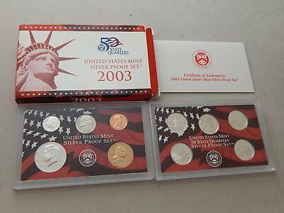 2003-S Silver US  United States Mint Proof Set w/ State Quarters