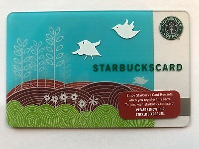 2008 Starbucks Gift Card Spring Birds Flowers Pin Intact No Stored Value 6051