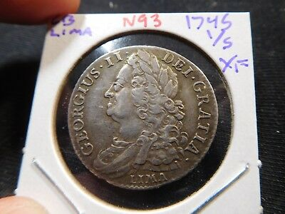 N93 Great Britain 1745 Lima Shilling XF