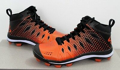 e18aa5ac95c NEW Boombah Men s Squadron Molded Mid Cleats Plastic Turf Shoes Size 7.5